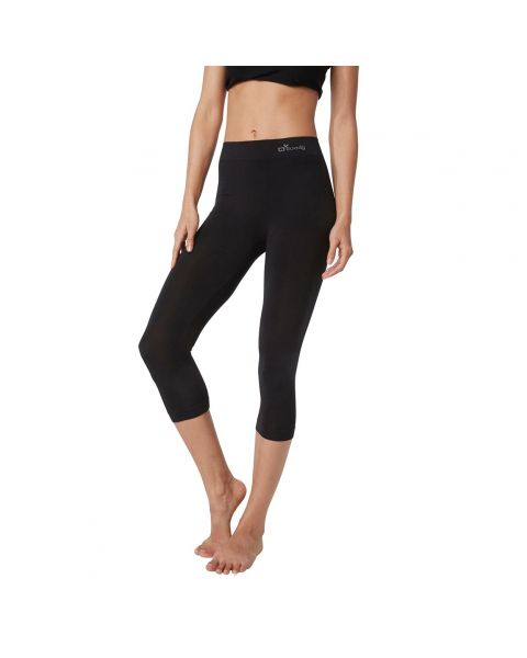 Boody Organic Bamboo Eco Wear Women's 3/4 Length Leggings - Black