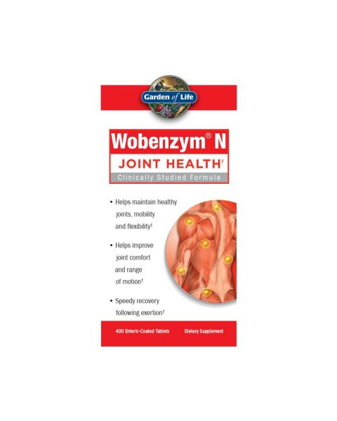 Garden of Life Wobenzym N Joint Health 400 tablets