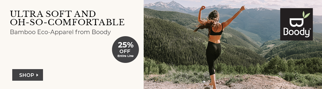 Bamboo Eco Apparel from Boody. 25% off entire line