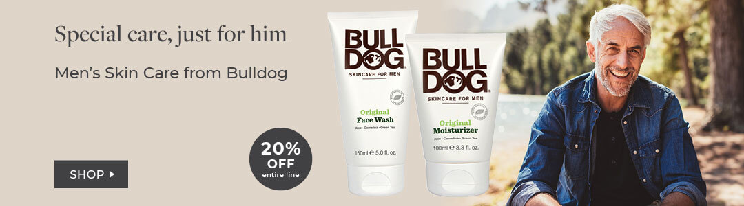 Shop Men's Skin Care with Bulldog