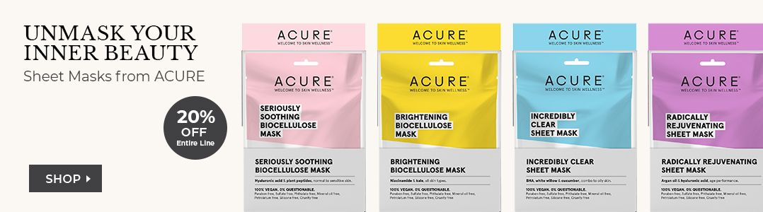 20% off ACURE products this month
