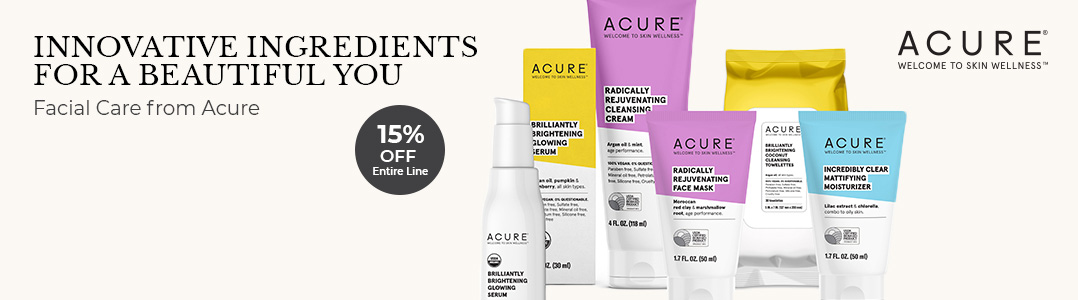 15% off ACURE products this month