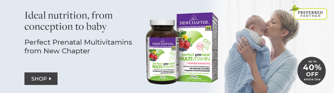 New Chapter Prenatal Vitamins - 40% Off entire line