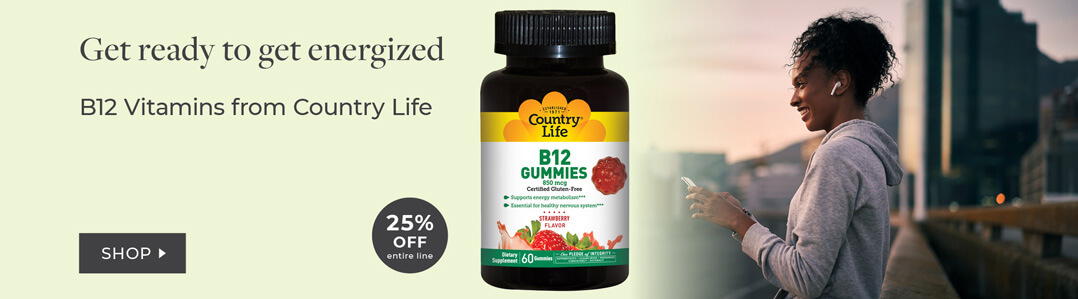 B Vitamins & Energy 25% off entire line