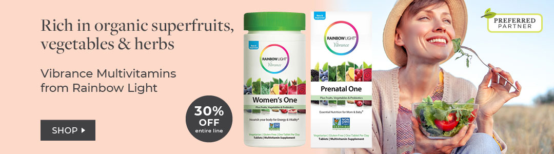 30% off Entire Line Rainbow Light -Womens Multivitamins