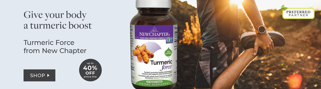 New Chapter - Up to 40% off Turmeric