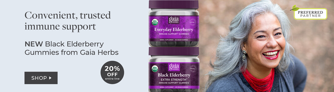 Shop Gaia Herbs - elderberry gummies