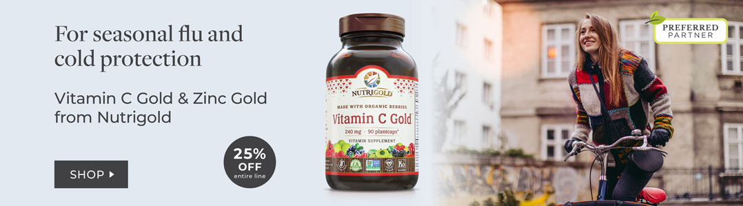 25% off entire line nutrigold Gold collection
