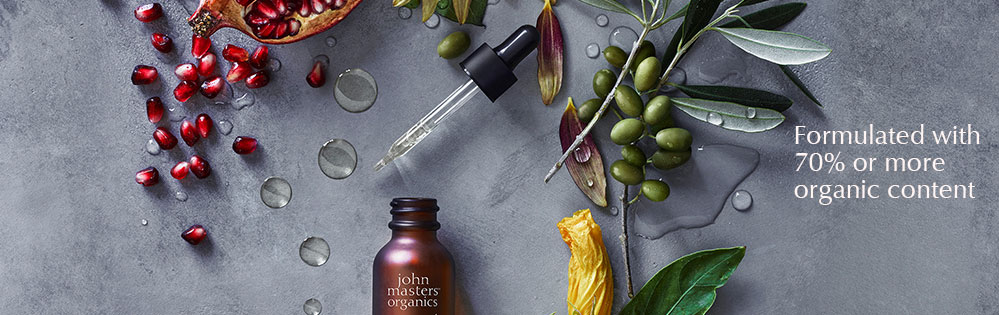 John Masters Organics. Formulated with 70% or more organic content