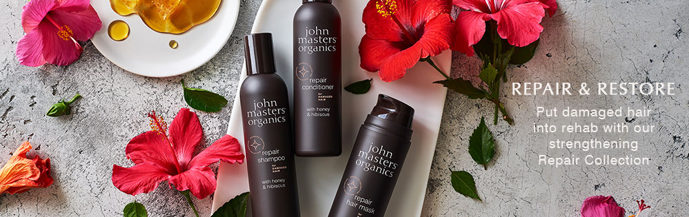 John Masters Organics. Repair and restore. Put damaged hair into rehab with our strengthening Repair Collection.