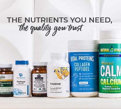 Supplements available at Pharmaca. Gaia Herbs, Integrative Therapeutics, Garden of Life, Thorne, Vital Proteins, Natural Vitality