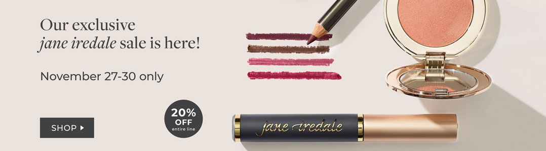 FLASH SALE! 20% off Jane iredale until 11/30