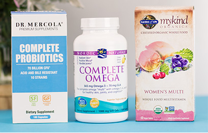 Vitamins & Supplements Products from Dr. Mercola, Nordic Naturals, Garden of Life and 