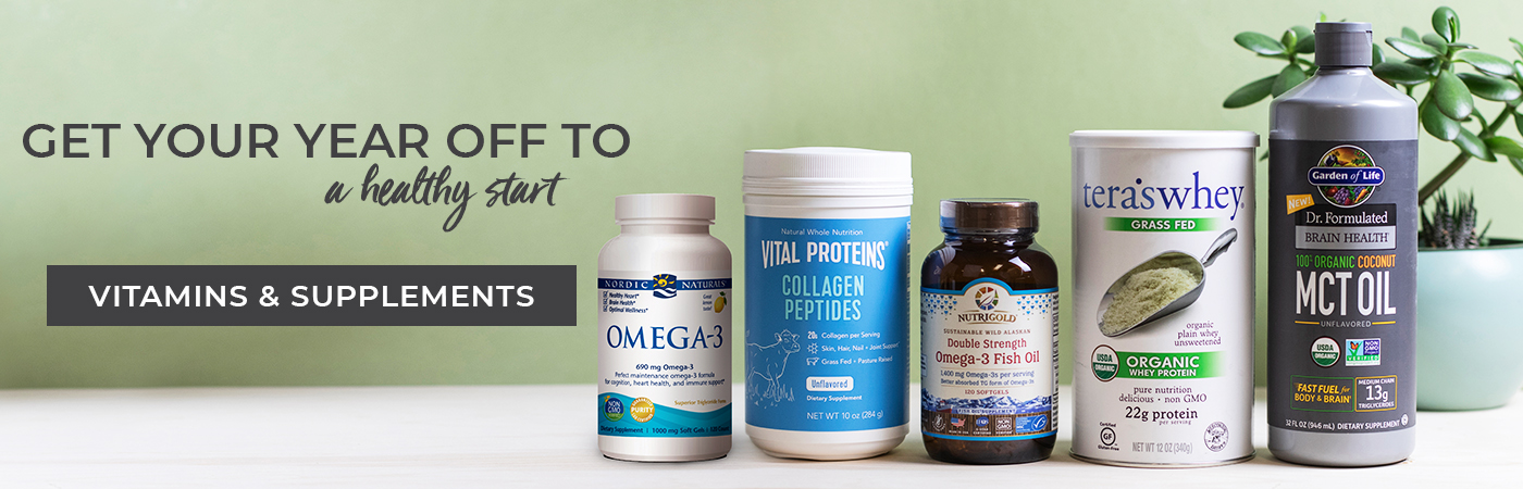 Get your year off to a healthy start - Shop Vitamins and Supplements