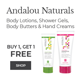 Shop Andalou Naturals Buy 1, Get 1 Free Body Lotions, Shower Gels, Body Butters and Hand Creams