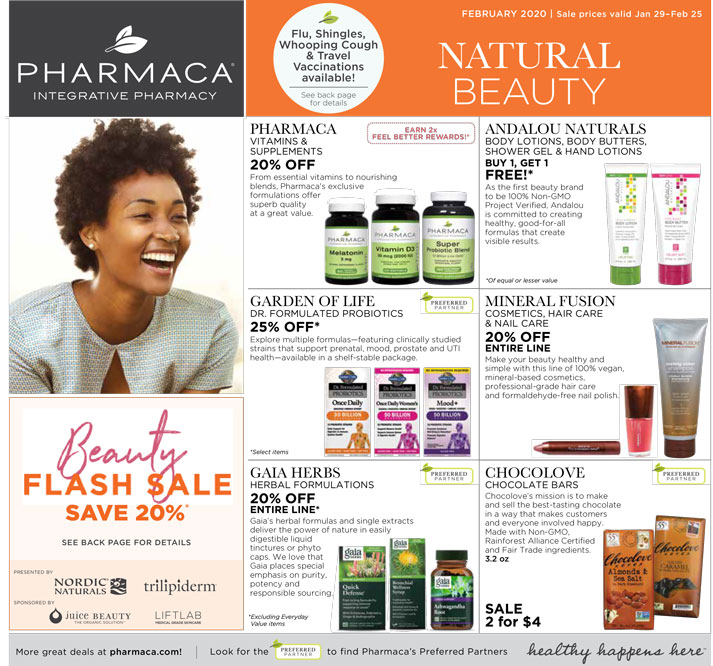click to download 2020 February Pharmaca Store Flyer January Page 1