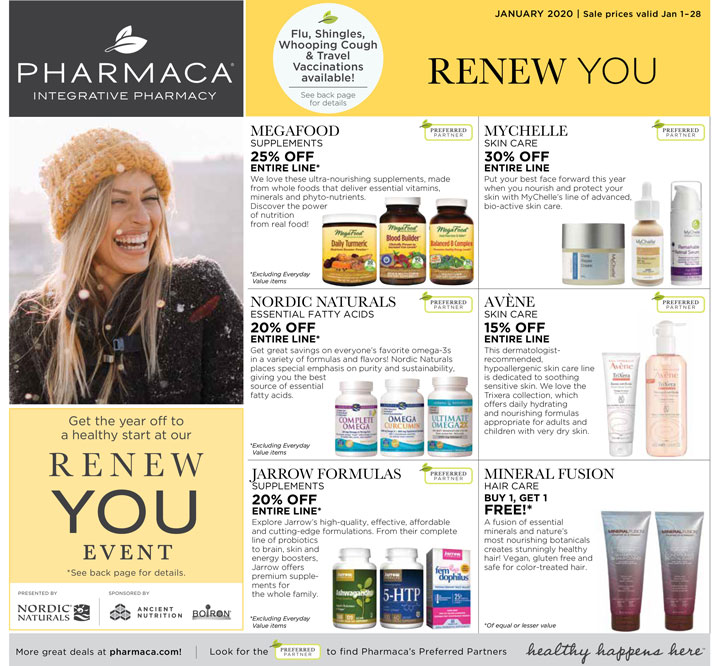 click to download 2020 January Pharmaca Store Flyer January Page 1