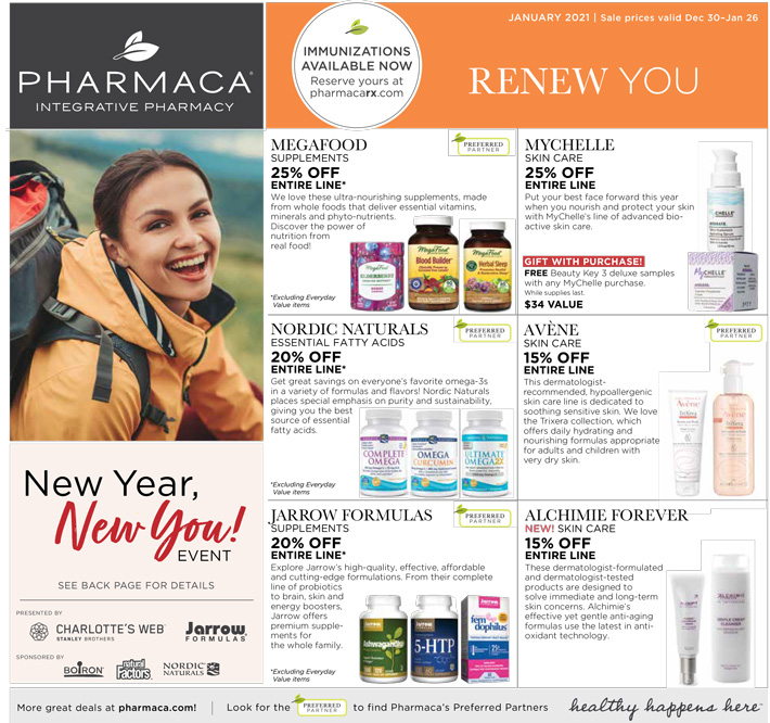click to download 2020 December Pharmaca Store Flyer Page 1