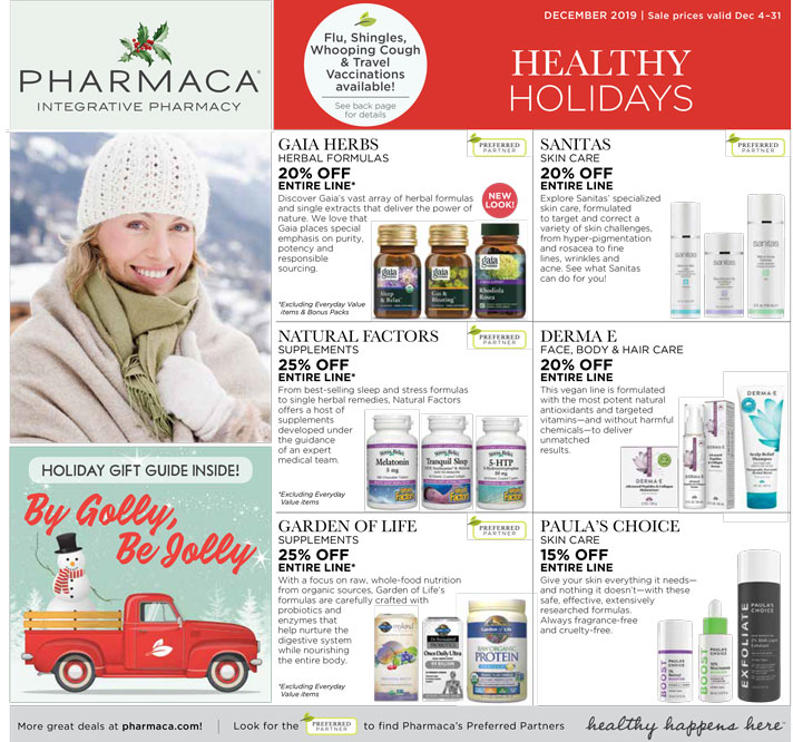 click to download 2019 December Pharmaca Store Flyer December