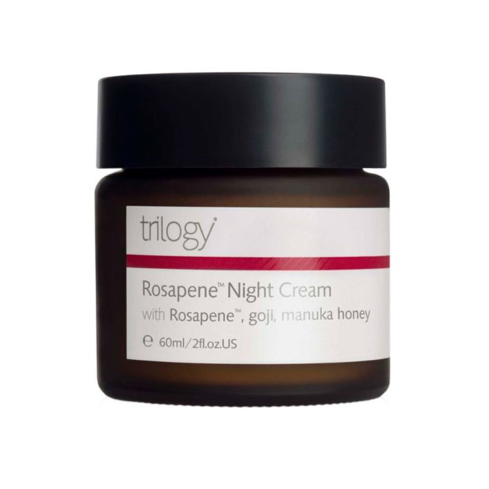 The Trilogy Rosapene Night Cream against a white background.